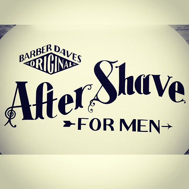 Barber Dave's After Shave for men.