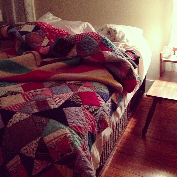 I've got some fresh flannel sheets to snuggle into right now.