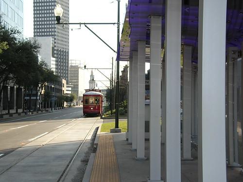 Loyola streetcar testing