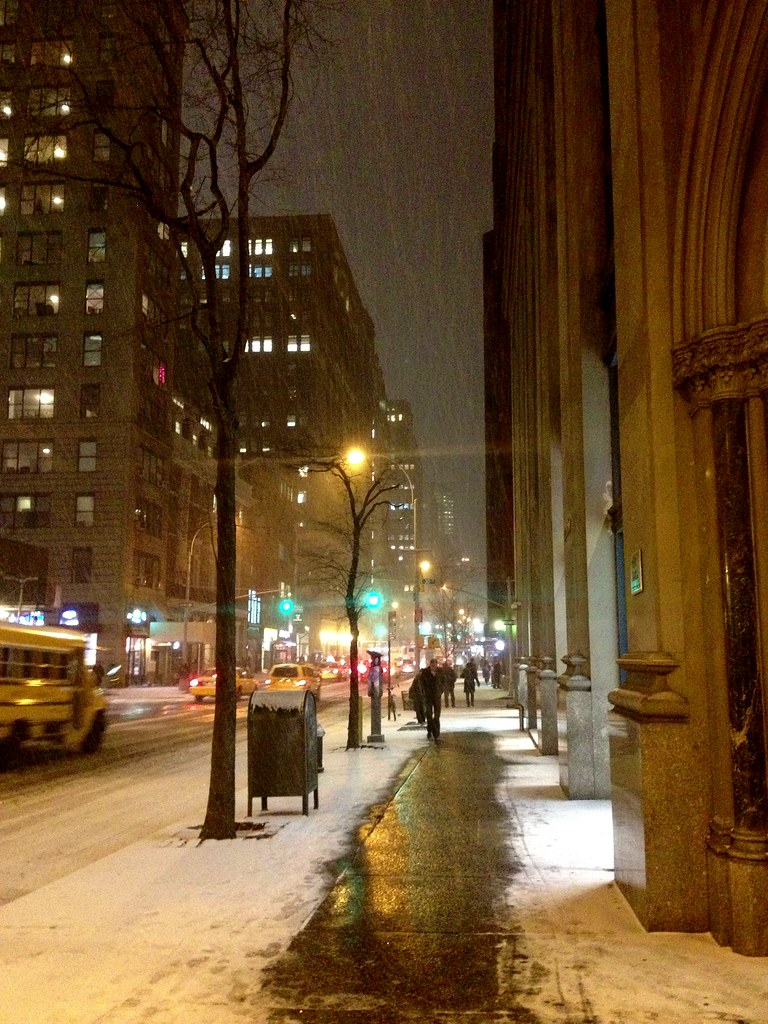 Snowy Madison Ave