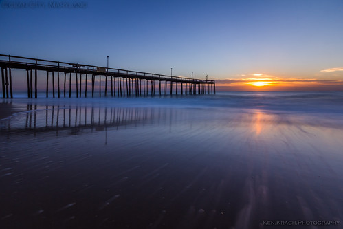 ocean longexposure morning sunrise maryland oceancity atlanticocean oceancityfishingpier