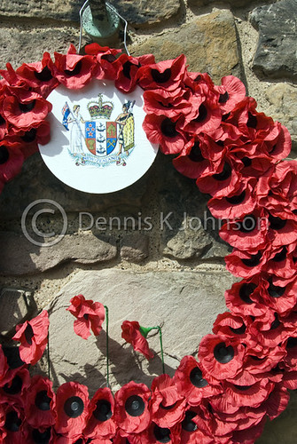Poppy wreaths, Scottish National War Memorial, Edinburgh Castle