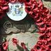 Poppy wreaths, Scottish National War Memorial, Edinburgh Castle