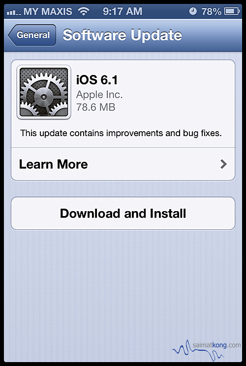 Apple releases iOS 6.1 update! Update now!