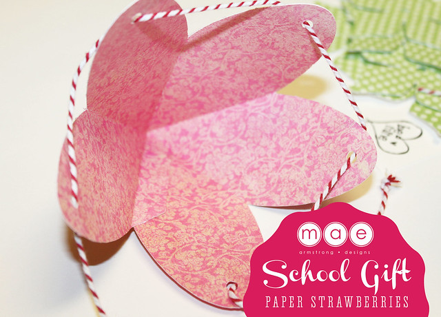 Paper Strawberries - School gift2