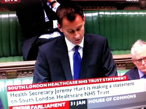 31/365 Jeremy Hunt announcing downgrading of Lewisham Hospital