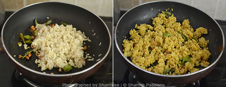 How to make aval upma - Step3