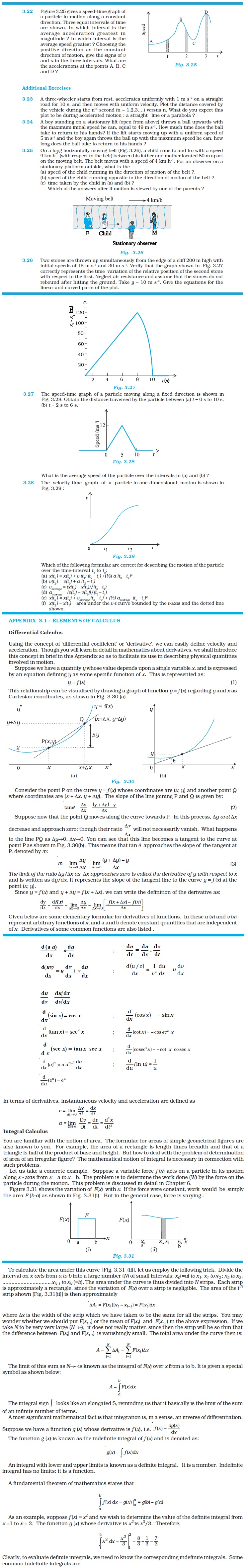 NCERT Class XI Physics: Chapter 3 – Motion in A Straight Line