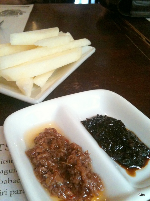 Bagoong and Singkamas