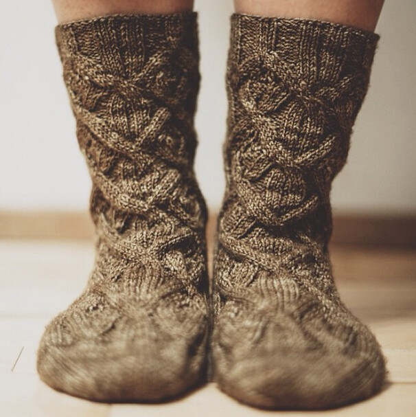 Cable Knit Socks Pattern : Cable knit socks Flickr - Photo Sharing!