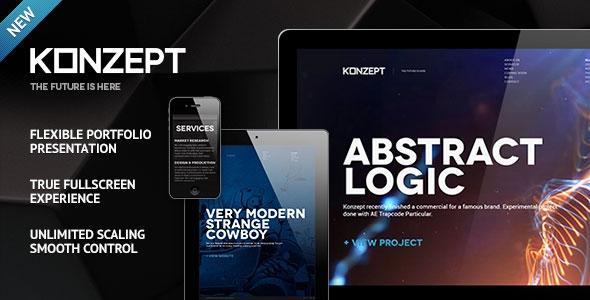 Konzept v2.2 - Fullscreen Portfolio WordPress Theme