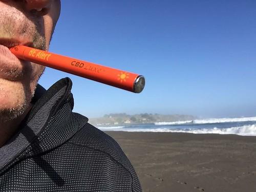 Pre Surf Prep with CBD Luxe BE Alert disposable vape pen #wsl #enduranceathletes #antiinflammatory #extremeathletes #puntalobos