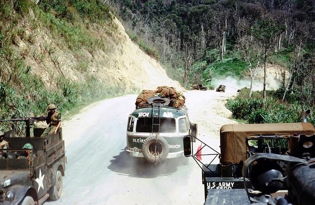 Pleiku bus - Photo by Hatch (12/66 – 12/67)