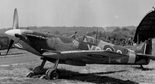 RCAF Spitfire  MK VB 401 W3834 in 1942.