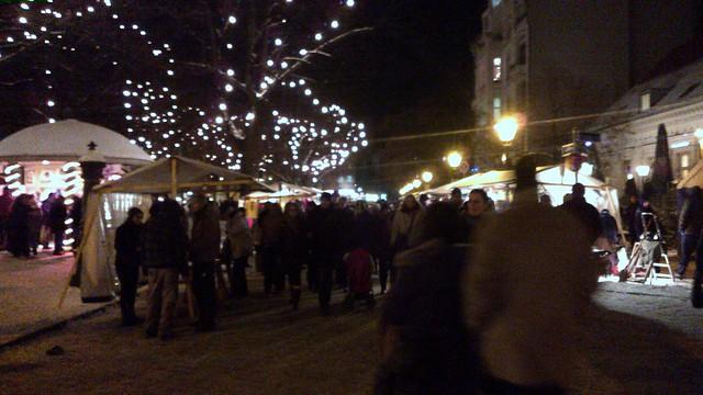 Un mercado de Navidad