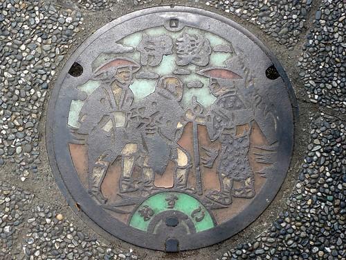 Ise city Mie pref, manhole cover 3 (三重県伊勢市のマンホール3)