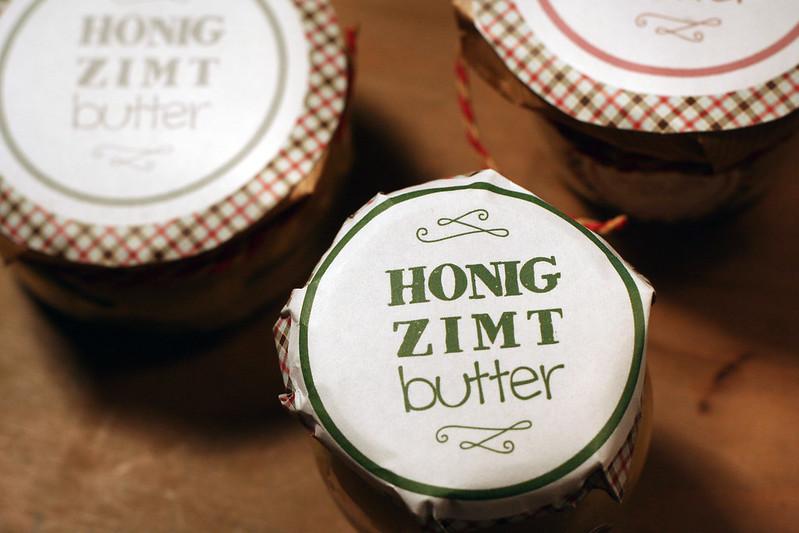 türchen 11: honig-zimt-butter zum verschenken {& selber schlemmen!}