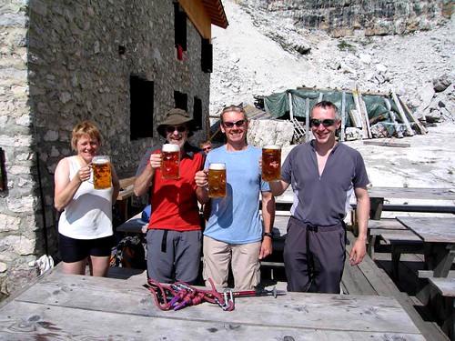 4 having a beer