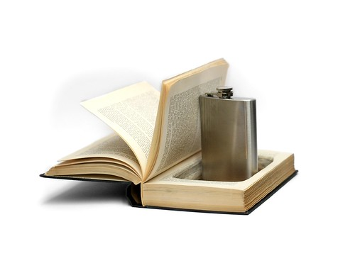 Humor Hollow Book With Flask
