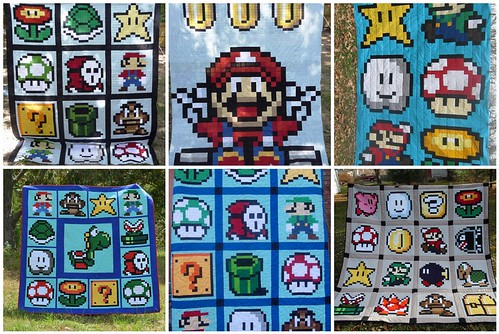 Finished Quilts from the Super Mario Brothers QAL