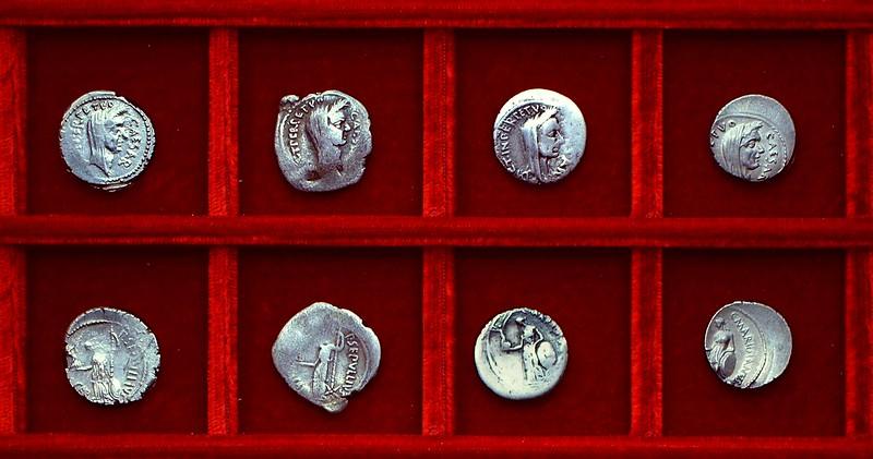 RRC 480-13,14,15,16 CAESAR DICT PERPETVO,SEPVLLIVS MACER, C.MARIDIANVS, Julius Caesar Sepullia, Cossutia, Ahala collection Roman Republic