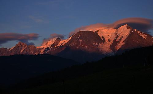 sunrise clear chamonix montblanc