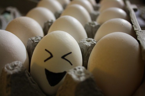 this egg is cracking up by Rakka