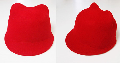 cat ear red