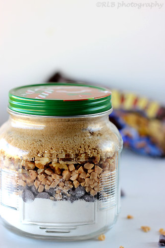 Dessert in Jars: Toffee {Chocolate Chip} Blondies