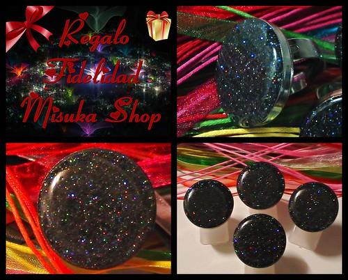 Anillo De Resina Epoxi Con Base Metálica Ajustable  Holografico Negro Multicolor