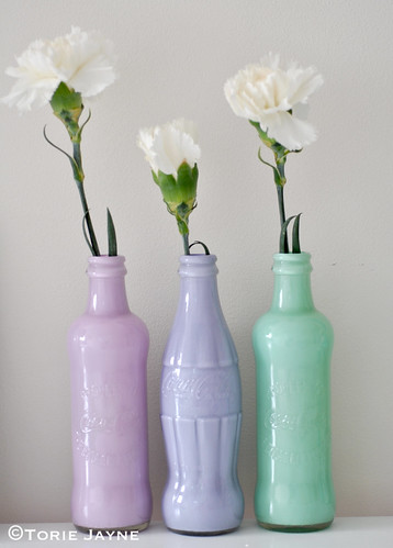Coca-Cola bottle vases