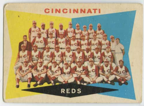 1960 Topps Cincinnati Reds Team Card