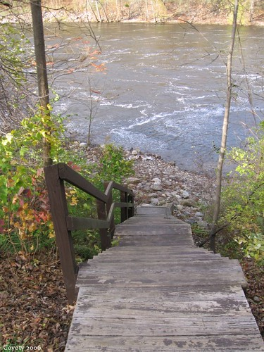 Canoe landing stairs, looking down by Coyoty