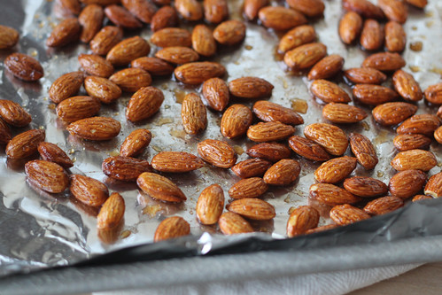 how easy these sweet spiced almonds are to make simply coat the nuts ...