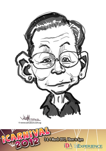 digital live caricature for iCarnival 2012  (IDA) - Day 1 - 79