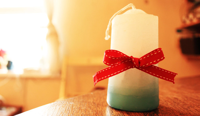 ombre candle