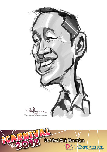 digital live caricature for iCarnival 2012  (IDA) - Day 2 - 71