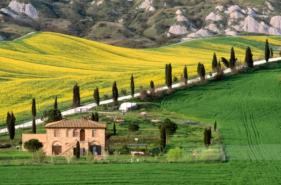 Crete Senesi during spring time (April 2007)