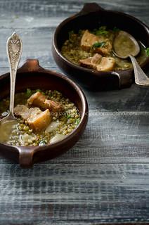 Pork roast and pigeon peas stew