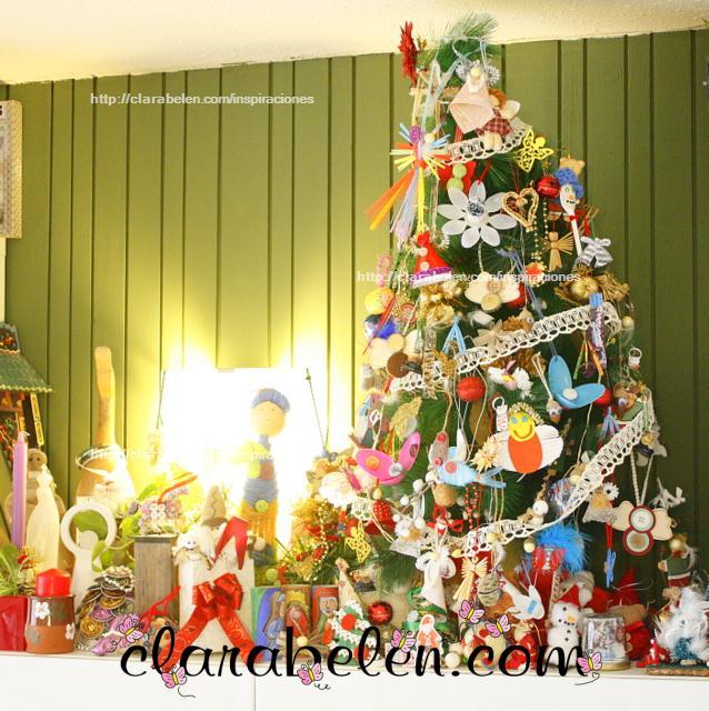 Inspiraciones manualidades y reciclaje c mo decorar un - Arbol de navidad sencillo ...