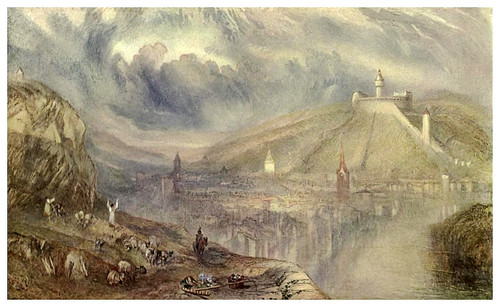 019-Ciudad suiza de Shaffhausen 1843-45-The water-colours  of J. M. W Turner-1909