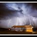 Lightning storm over Dixon Park Beach. by ShortyDan