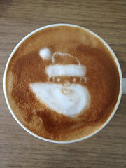 Today's latte, Google Santa Tracker.