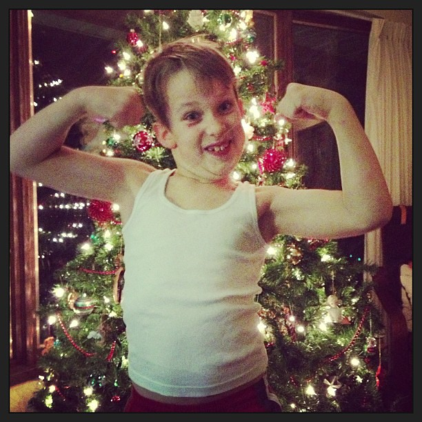 Luke's Christmas gift to us was two tickets to the gun show.