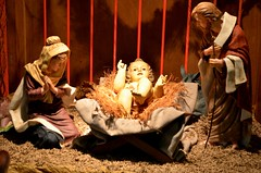 christmas decoration(0.0), theatre(0.0), decor(1.0), people(1.0), manger(1.0), nativity scene(1.0),