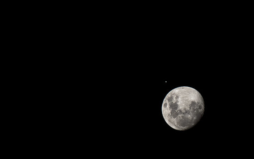A Lua e Júpiter by kassá