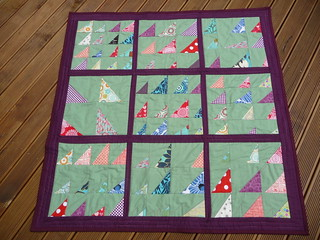From 'Block Party' - Wonky triangles quilt - front