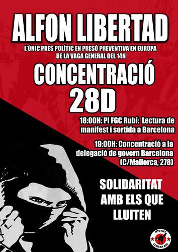 CONCENTRACIÓ #28D #ALFONLIBERTAD A RUBÍ I BCN