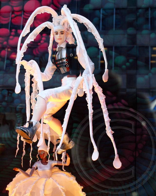Bloomingdale's Cirque Du Soleil 2012 Holiday Window, Manhattan, New York City