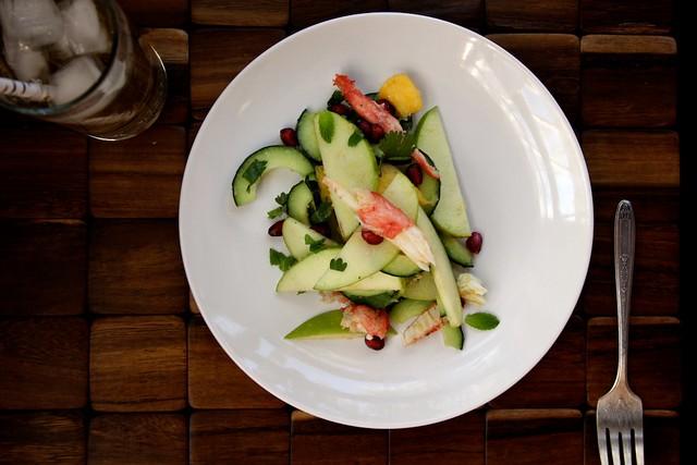 crab and apple salad